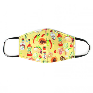Taco Time Face Mask With Filter Pocket