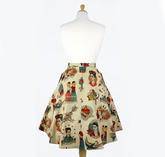 Vintage Inspired Frida Circle Skirt