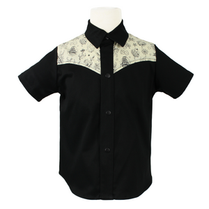 Boy's Western Tattoo Top