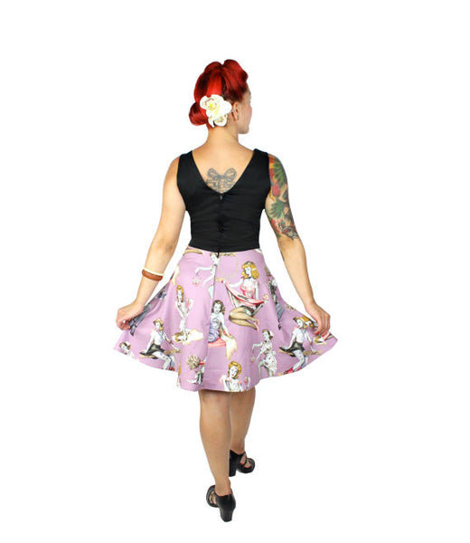 Zombie Lavender V-Neck Dress
