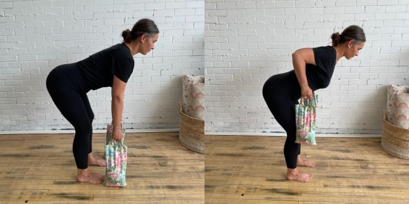 Bent Over Rows with Sandbags