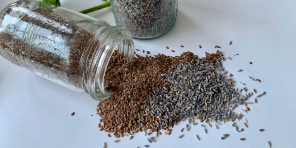 Flax Seeds and Lavender for Eye Pillows
