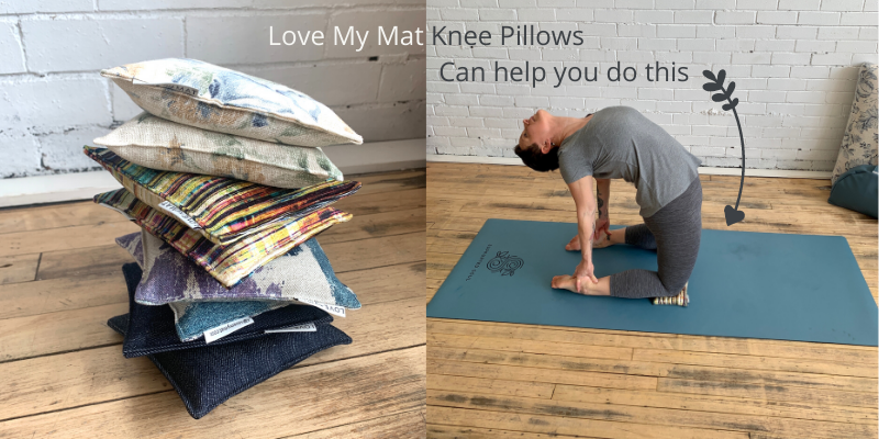 Knee Pads for Camel Pose in Yoga
