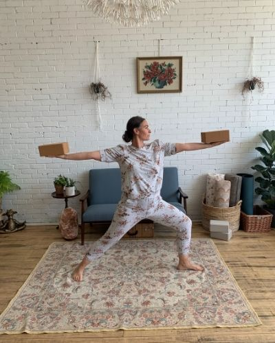 Standing Poses with Yoga Blocks