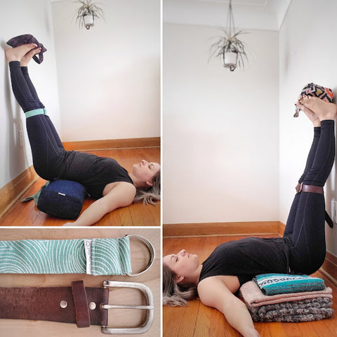 Legs Up The Wall - Love My Mat Yoga Strap