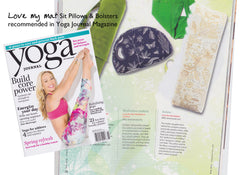 Yoga Bolsters & Zafu Cushions from Love My Mat recommended by the Yoga Journal Magazine