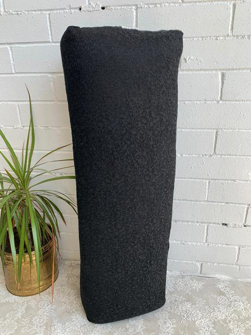 Pretty Black Yoga Bolster with eco-friendly fabric