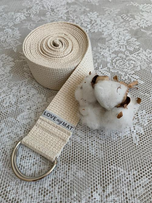 Natural Cotton Yoga Strap made in Canada