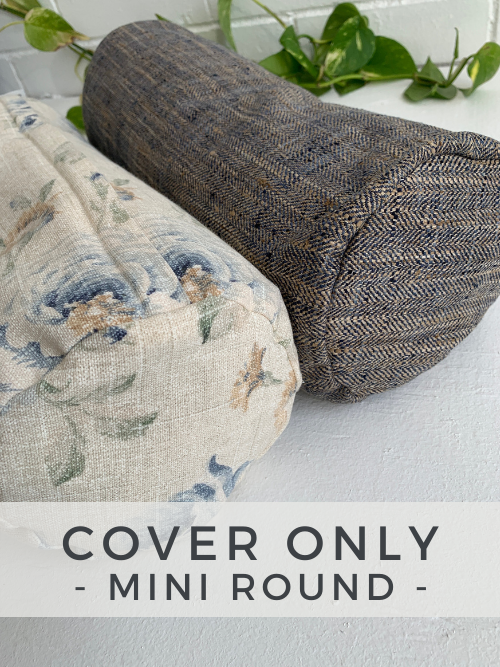 Mini Round Bolster - Cover Only - - Love My Mat