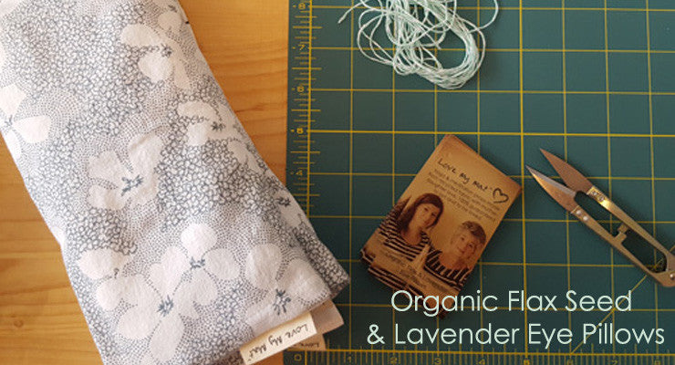 flax & lavender eye pillows for the ultimate in relaxation