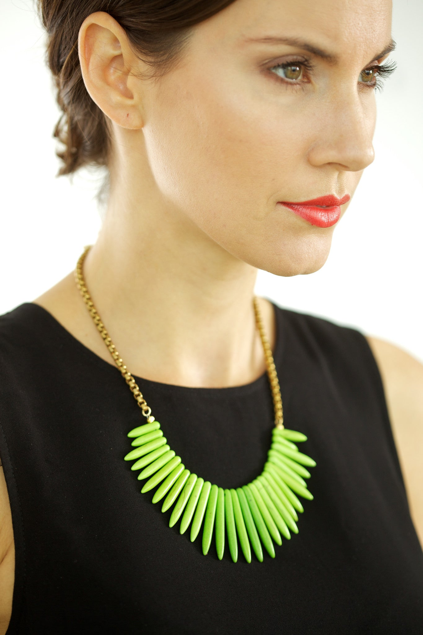 Spike Bib Necklace Set