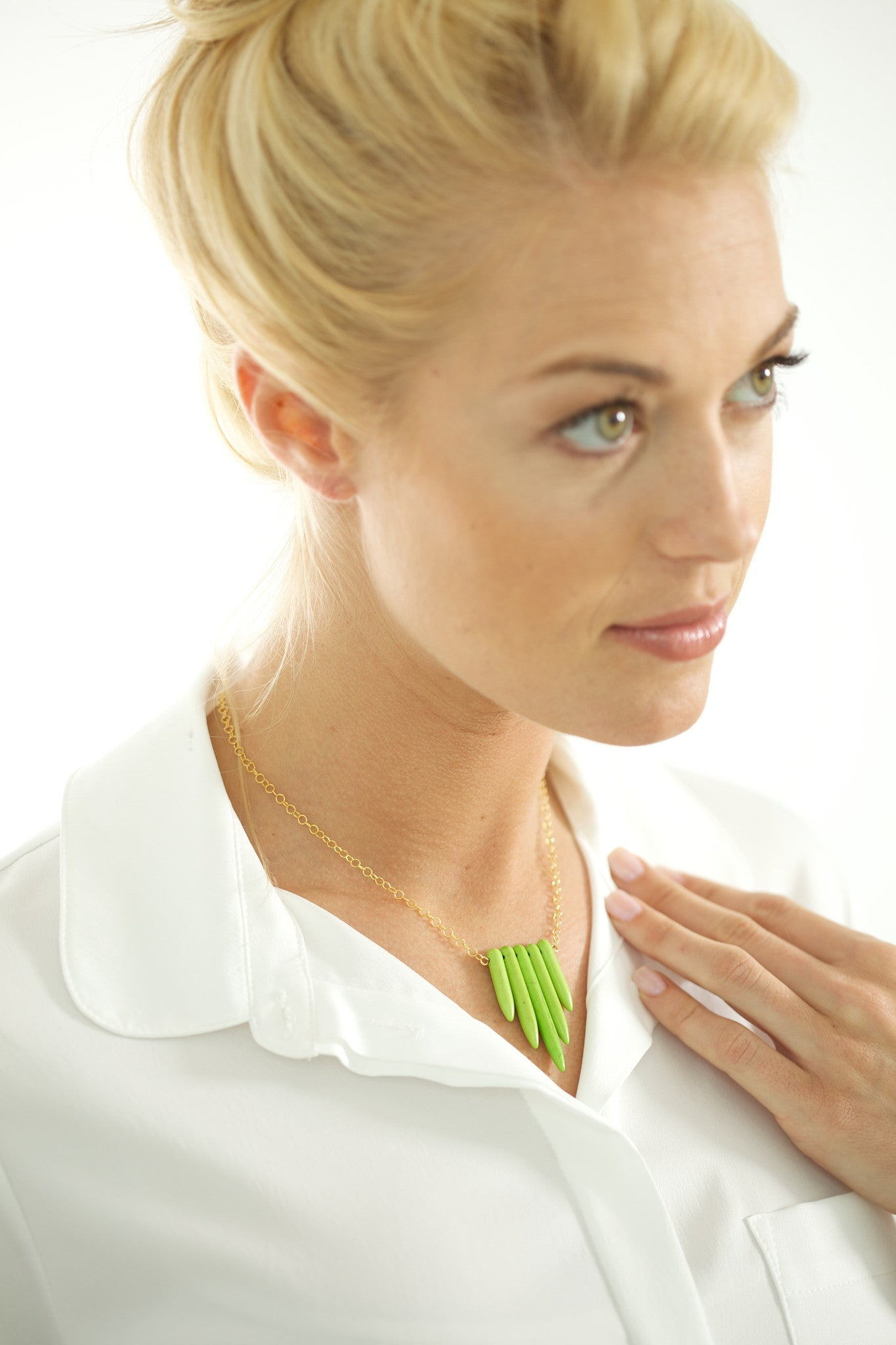 Sadie Green Spike Necklace