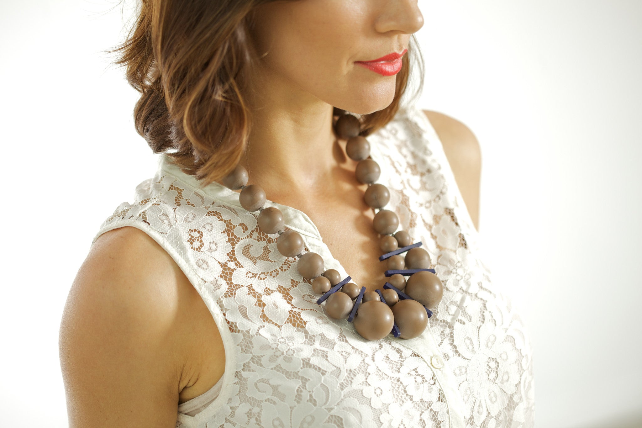 Nevis Resin Statement Necklace