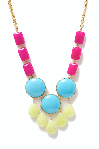 Glass Bib Necklace