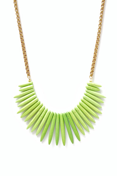 Spike Green Bib Necklace