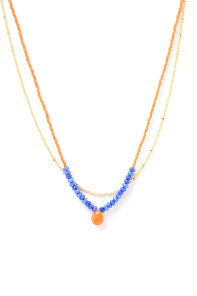Rondelle Two Row Necklace