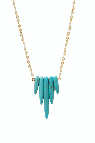 Sadie Turquoise Spike Necklace