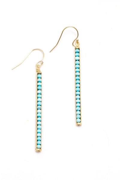 Turquoise Stick Earrings