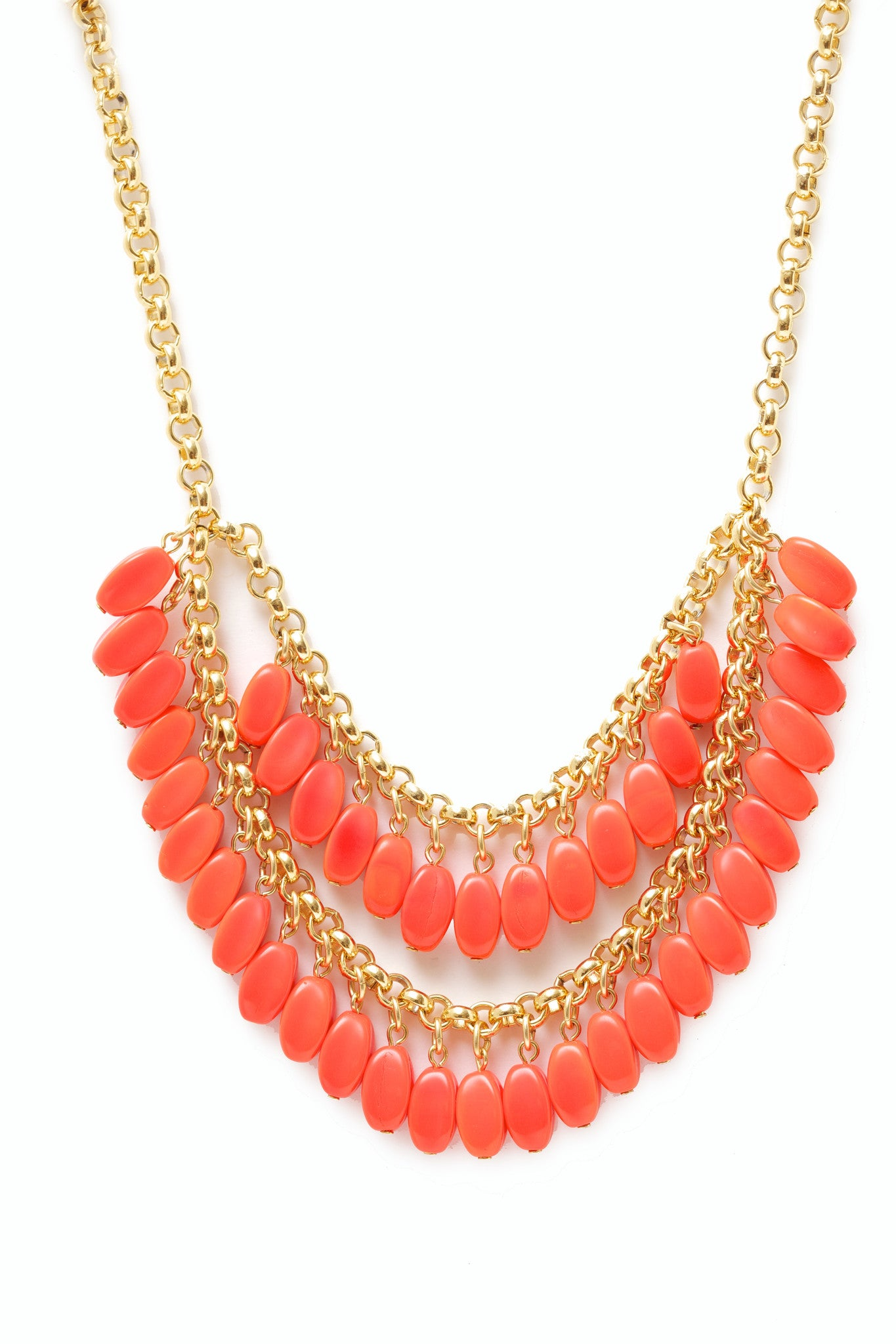 Red Double Tiered Necklace
