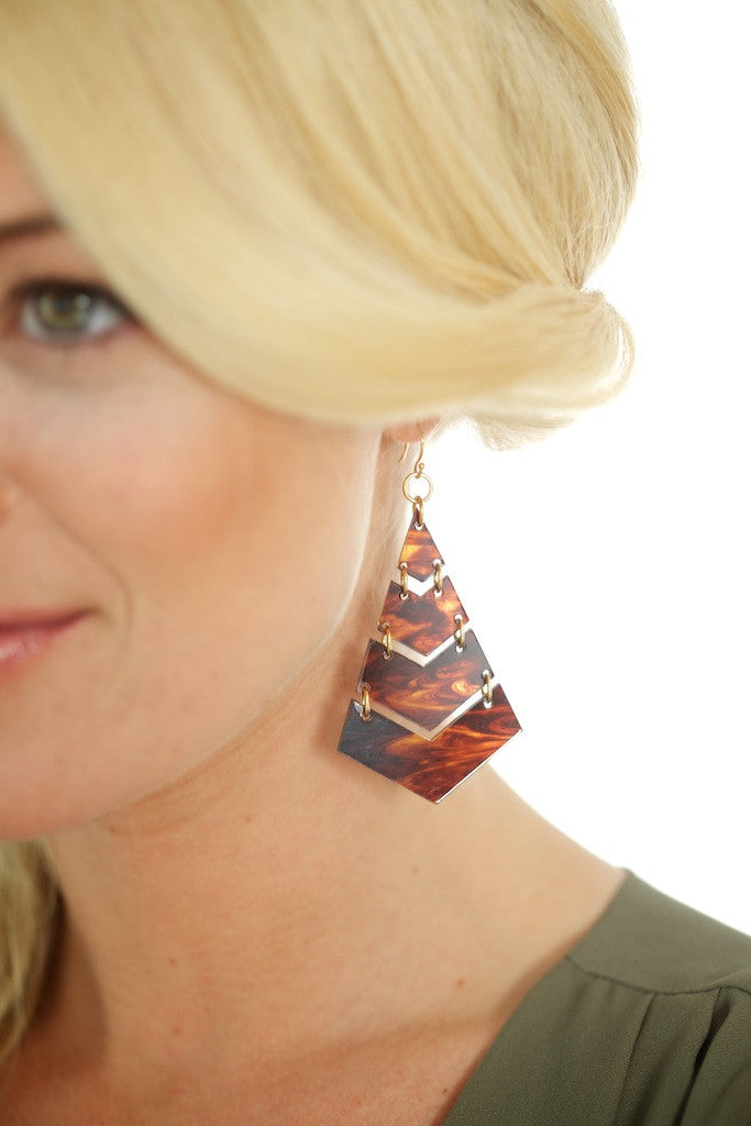 Triangle Tortoise Earrings