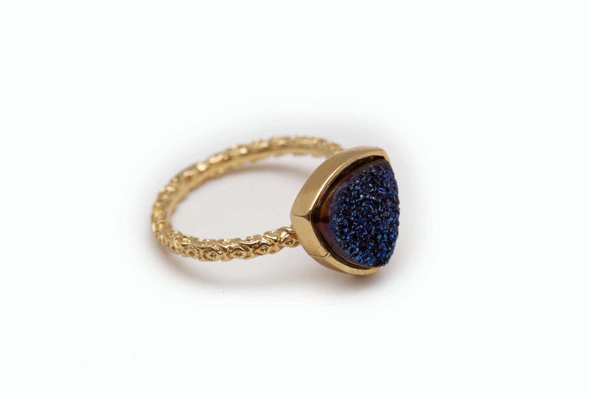 Nadia Midnight Druzy Ring