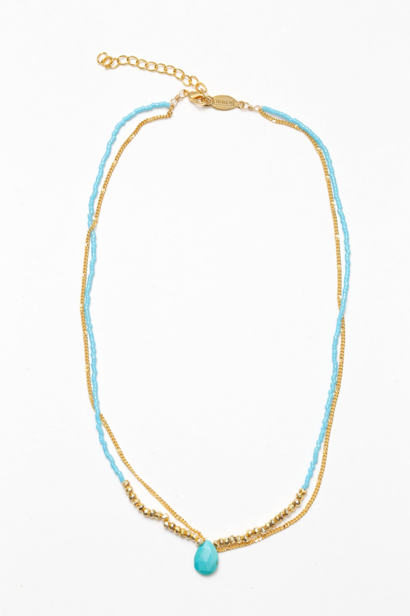Rondelle Two Row Necklace - NEW ARRIVAL