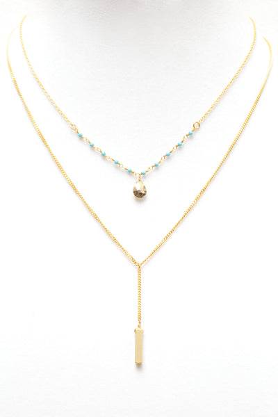 2 in 1 Turquoise Necklace - NEW ARRIVAL