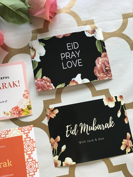 Eid Card Dark Floral