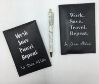 Work Save Travel Passport Cover
