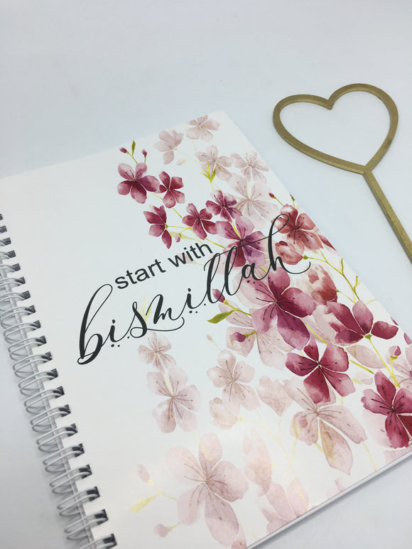 Start with Bismillah Notebook