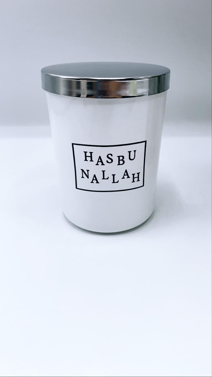 HasbunAllah Candle with mirror lid