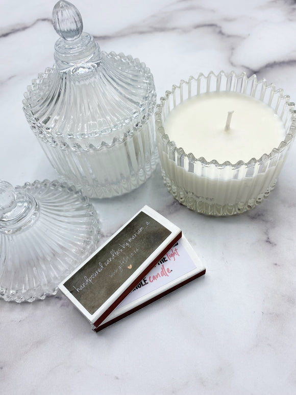 Ribbed Carousel Candle