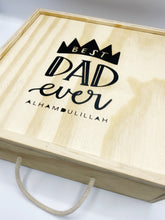 Load image into Gallery viewer, Wooden Best Dad Gift Box