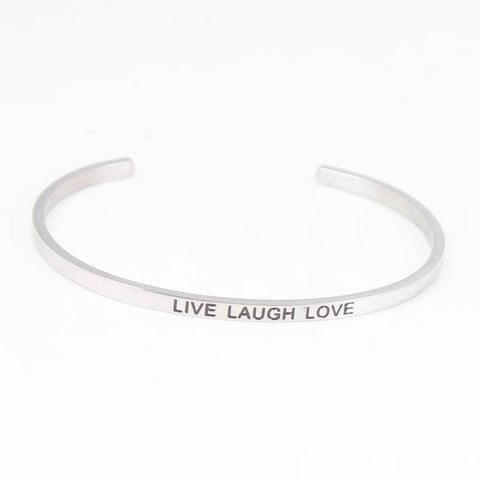 LIVE LAUGH LOVE // Mantra Cuff Bracelet
