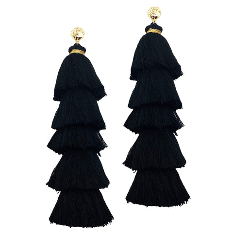 Boho Chic // Layered Tassel Earrings (2 Color Ways)