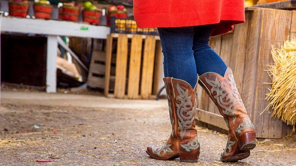 "DIEGO - Relaxed Fit - Old Gringo Boots 13"" (Rust/Turquoise)"