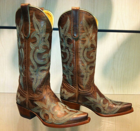 "Old Gringo Boots DIEGO 13"" (Rust/Turquoise)"