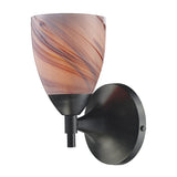 Celina 1 Light Sconce In Dark Rust And Creme Glass