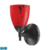 Celina 1 Light LED Sconce In Dark Rust And Fire Red