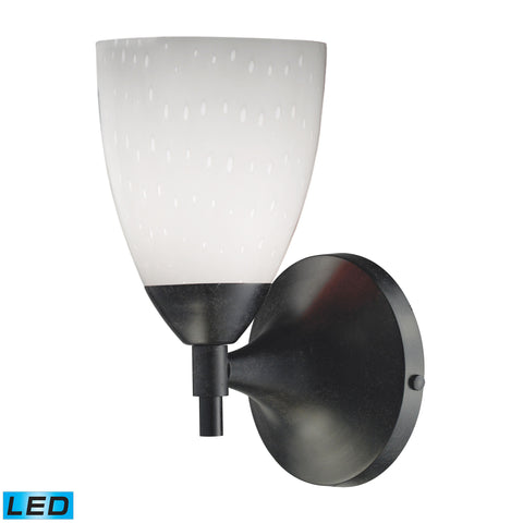 Celina 1 Light LED Sconce In Dark Rust And Simple White