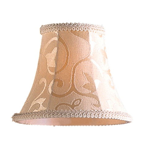 Elizabethan Mini Shade In Patterned Beige Fabric