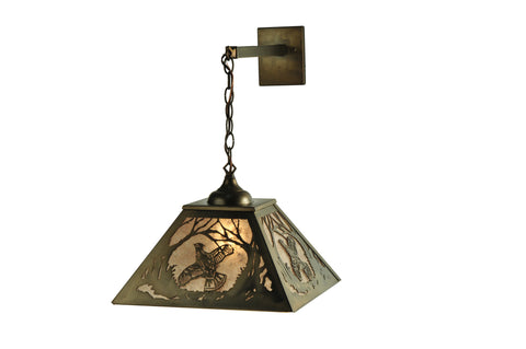 "15.5""W Ruffed Grouse Hanging Wall Sconce"