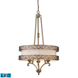 Abington 3 Light LED Pendelier In Antique Brass
