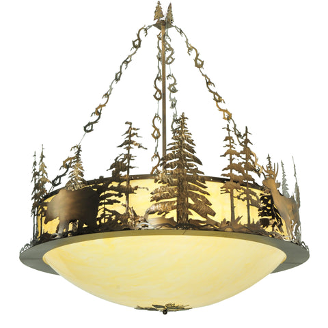 "62""W Wildlife Inverted Pendant 112363"