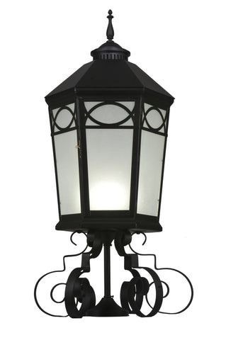 "16""W Restored Taft 1 Lt Lantern Post Mount"