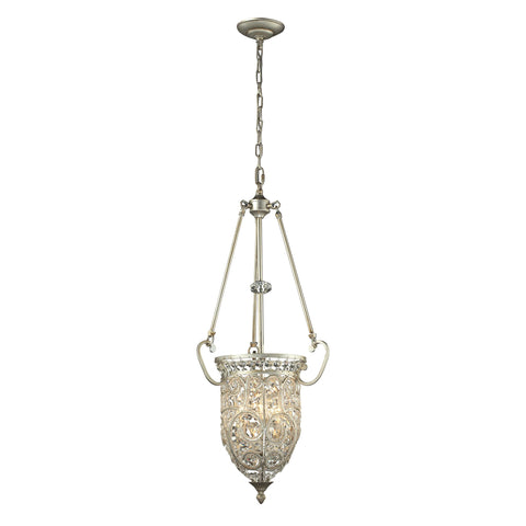 Andalusia 3 Light Pendant In Aged Silver