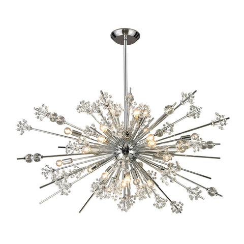 Starburst 29 Light Chandelier In Polished Chrome