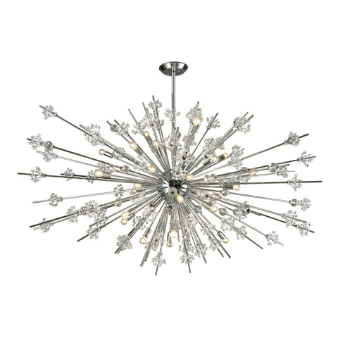 Starburst 31 Light Chandelier In Polished Chrome