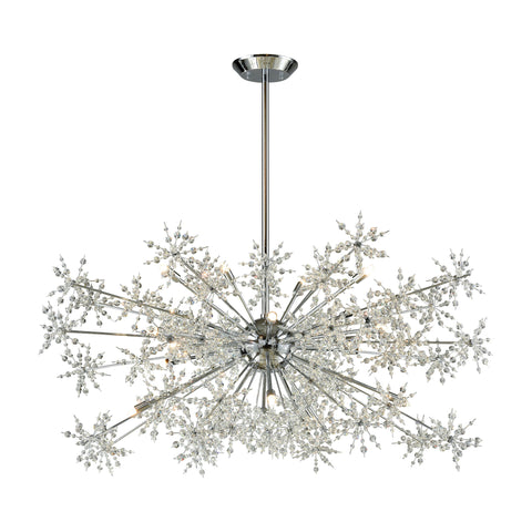 Snowburst 20 Light Chandelier In Polished Chrome
