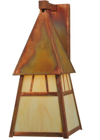 "7.40""Sq Stillwater Double Bar Mission Wall Sconce"
